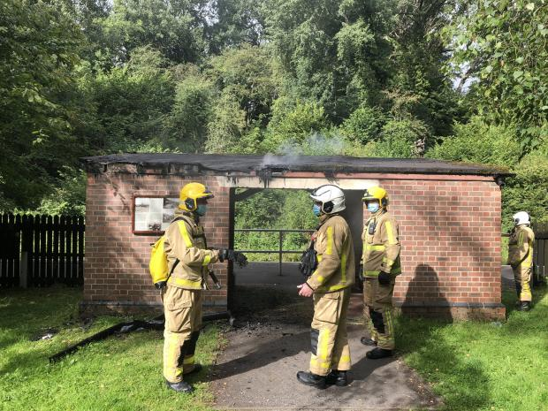 Kidderminster Shuttle: Fire crews extinguished the fire on Sunday morning