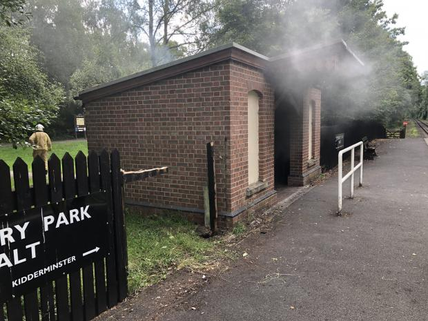 Kidderminster Shuttle: The roof of the shelter suffered severe fire damage