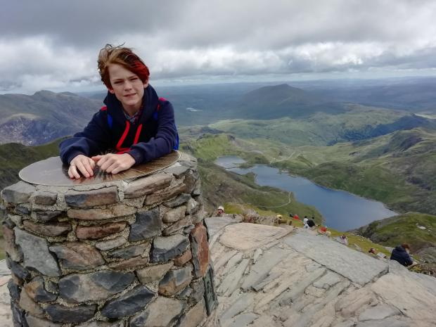 Kidderminster Shuttle: Alex successfully climbed Mount Snowdon with his dad Barry last month