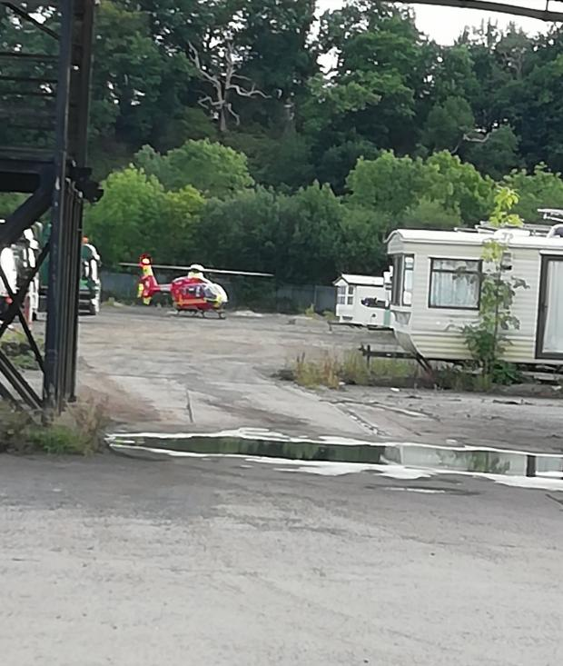 Kidderminster Shuttle: The air ambulances landed in Sandy Lane at around 7pm