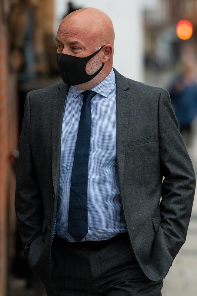 West Mercia Police constable Michael Darbyshire arriving at Worcester Crown Court. Photo by Jacob King/PA