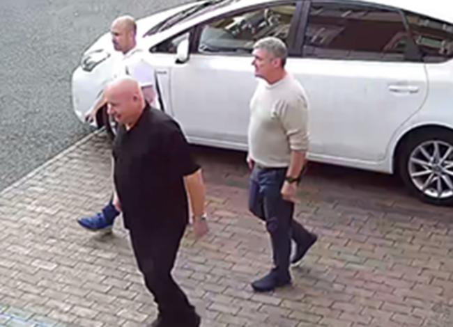 Thomas Mee, Vincent Ball and John Barlow arriving at a hotel in Derby where they stayed before committing a burglary in Barnby Moor