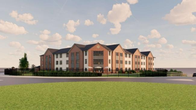 An artist's impression of the new 66-bed care home. Image from planning application