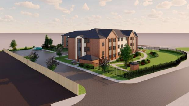 Kidderminster Shuttle: An artist's impression of the new 66-bed care home. Image from planning application