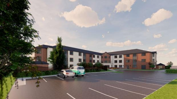 Kidderminster Shuttle: An artist's impression of the new care home car park. Image from planning application