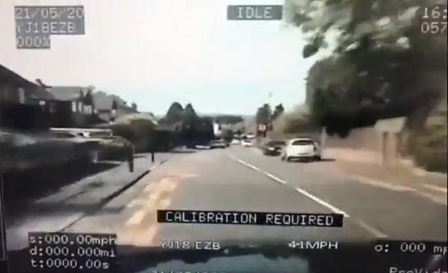 Video footage shows police in a high-speed pursuit with a dangerous driver in Romsley. Video from OPU Worcestershire