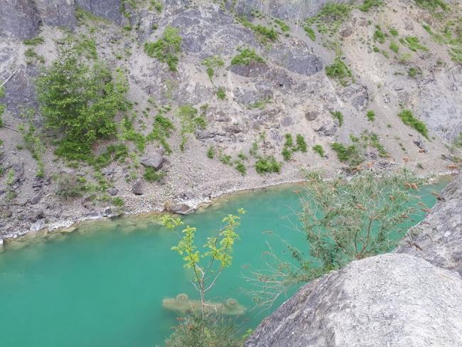 The 'Blue Lagoon' at Shavers End Quarry near Stourport