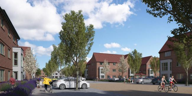 An artist's impression of the new housing development at the old Lea Castle Hospital site in Kidderminster