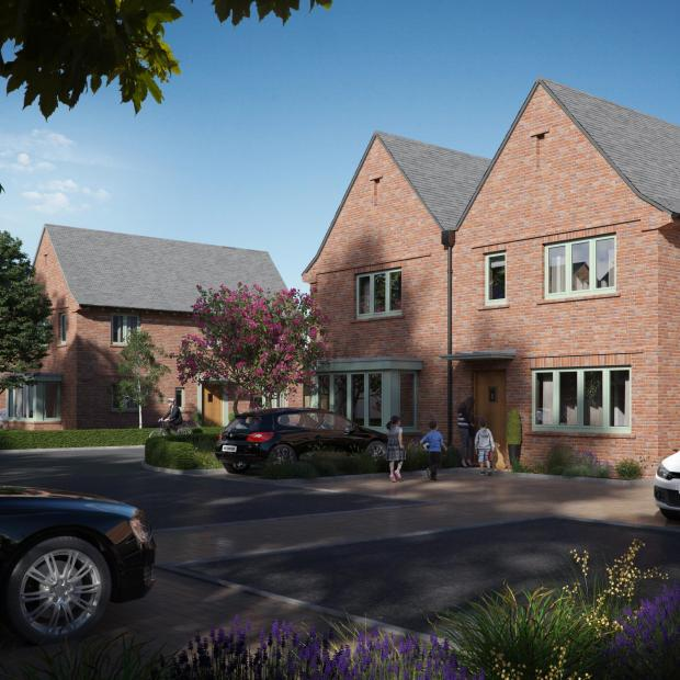 Kidderminster Shuttle: An artist's impression of the new housing development at the old Lea Castle Hospital site in Kidderminster