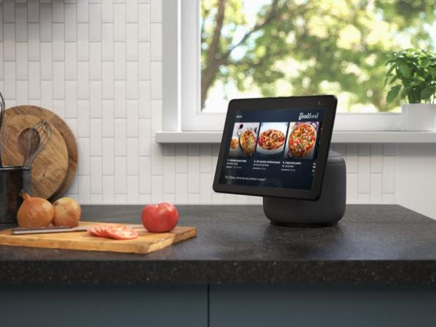 Kidderminster Shuttle: The new Echo Show screen can swivel to follow the user. Picture: Amazon