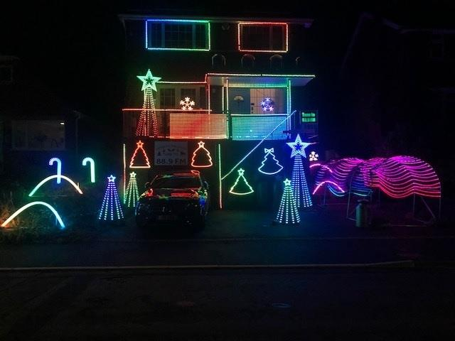Nick Wright has rigged up his house in Malham Road, Stourport, with 10,000 colour-changing Christmas lights