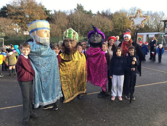 The Three Kings Parade at St Bartholomew's CE Primary School