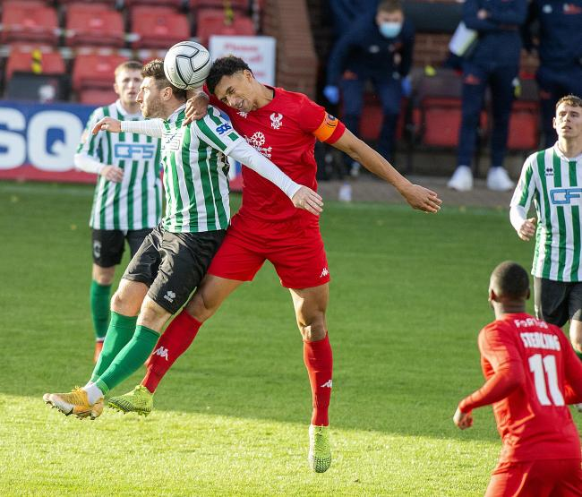 Lewis Montrose - Found the net with a key goal at Gateshead. Image: Paul France/Write Angle Media