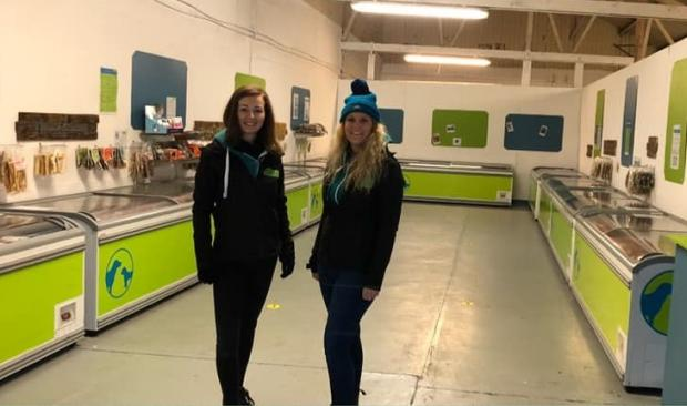 Kidderminster Shuttle: Charlotte Connor and friend Paula Hull at the new store at Riverside Business Park in Stourport