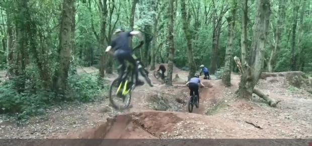 Kidderminster Shuttle: The existing dirt jumps at Burlish woodland