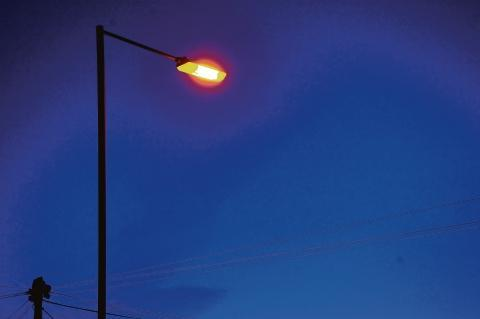 Worcestershire County Council's spending on street lights is down six per cent