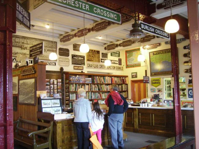 Inside Kidderminster Railway Museum