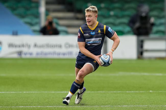 Fin Smith of Worcester Warriors  - Mandatory by-line: Nick Browning/JMP - 27/03/2021 - RUGBY - Sixways Stadium - Worcester, England - Worcester Warriors v Northampton Saints - Gallagher Premiership Rugby