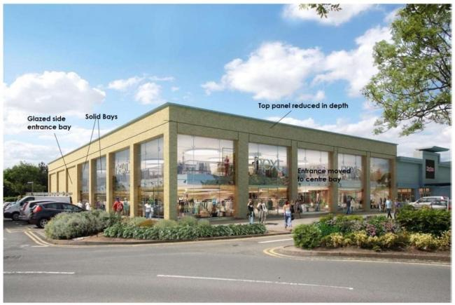 An artists impression of the plans of the store in The Elgar Retail Park