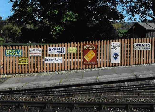 Some of the stolen vintage signs at Arley Railway Station
