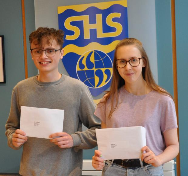 Kidderminster Shuttle: Successful Stourport students Will Moule and Chloe Lees