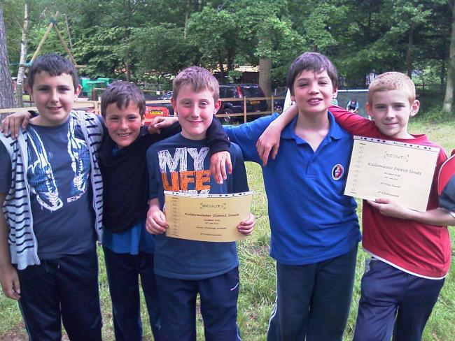 Oliver Sam Patrick Joseph and Josh with their certificates