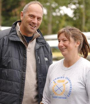 Friendly chat: Sir Steve Redgrave shares a joke with Mary Bytheway.
