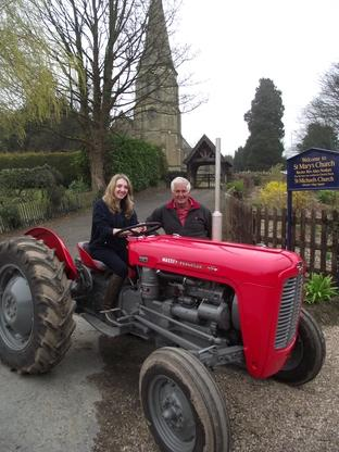 Club appeal: President Roy Neath and chairman Anna-May Furness outside St Mary's Church in Abberley village.