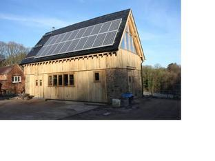 Renewable technology: Solar Photovoltaic cells at the Ruskin Studio, in Uncllys Farm.