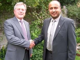 New colleague: Jamie Shaw, Leader of the Labour Group on Wyre Forest District Council with councillor Mumshad Ahmed.