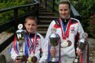 Trophy haul: Tsunami pair Iain Sinnett and Emily Powell show off their silverware from the Kimura Shukokai European Championships.