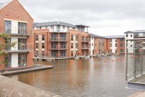 A view of Barratt West Midlands' Waters Edge development in Stourport.