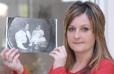 Family history: Beverley Farmer with a picture of her great grandmother Kate Florence Phillips and grandmother Ellen Walker.