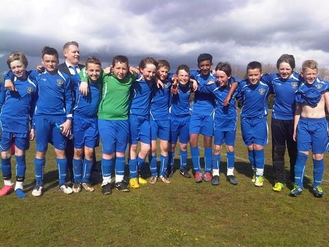 Winners: Kidderminster Lions under-12s savoured cup success.
