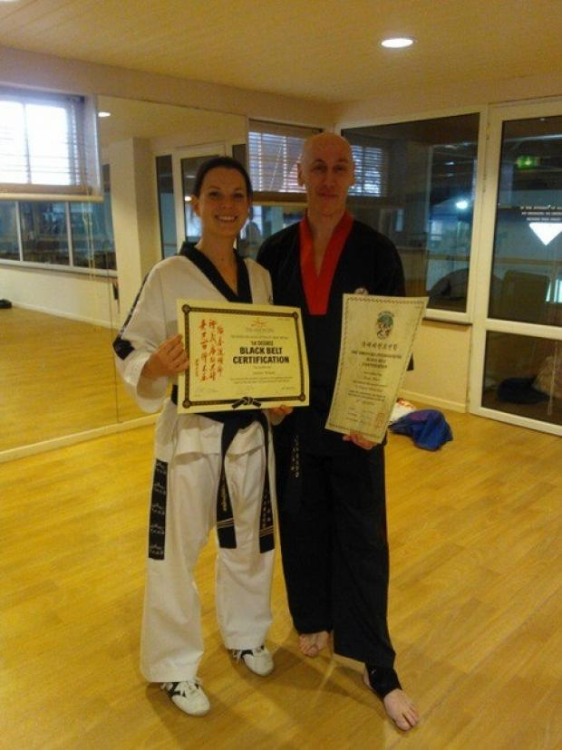 Simon Whale and instructor Katie Billingham.