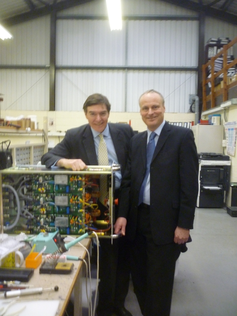 Highly charged: Philip Dunne with Stuart Morgan.