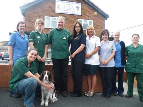 Understanding clients' needs: The team at Charnock Shepherd veterinary practice at Combertion Hill, Kidderminster.