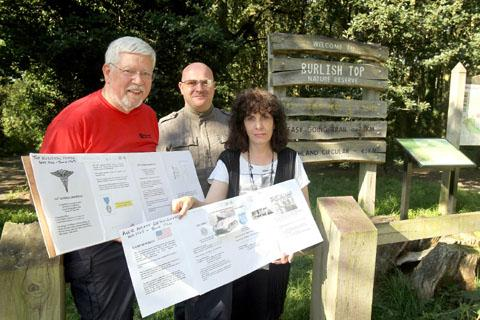 'Very proud': From left: Geoff Shaw, Jonathan Cooper and Lisa Cooper with information for the Burlish Camp project. Buy this photo 381205J at kidderminstershuttle.co.uk/pictures or by calling 01562 633333.