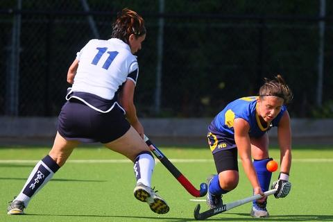 Stourport's Heidi Devey fights for the ball during the game