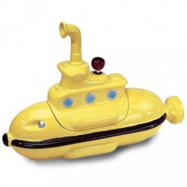 Beatles memorabilia: A ceramic yellow submarine like the one stolen in Comberton Hill.