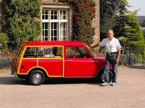 Reunion: Brian Brickstock with his 1967 Mini outside Dunsley Hall.