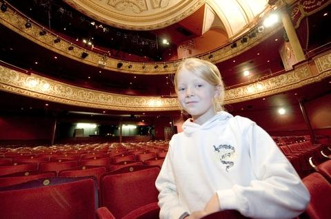 Future star: Anna Watkins, 7, will be performing as Gretl in Wolverhampton.