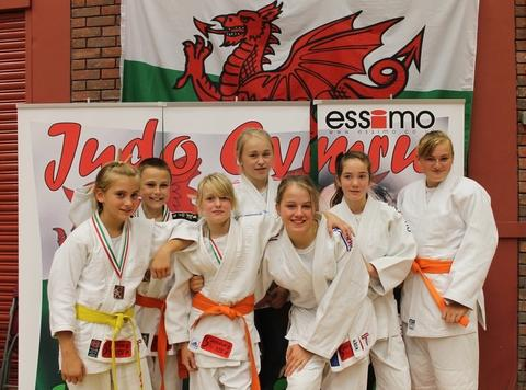 Medal haul: Samurai came away from the Welsh Open with a number of medals. Pictured (l to r): Leah Grosvenor, Matthew Hemer, Darcie Hancocks, Frankie Marston, Becky Hobby, Bryony Griffiths and Charlotte Read.
