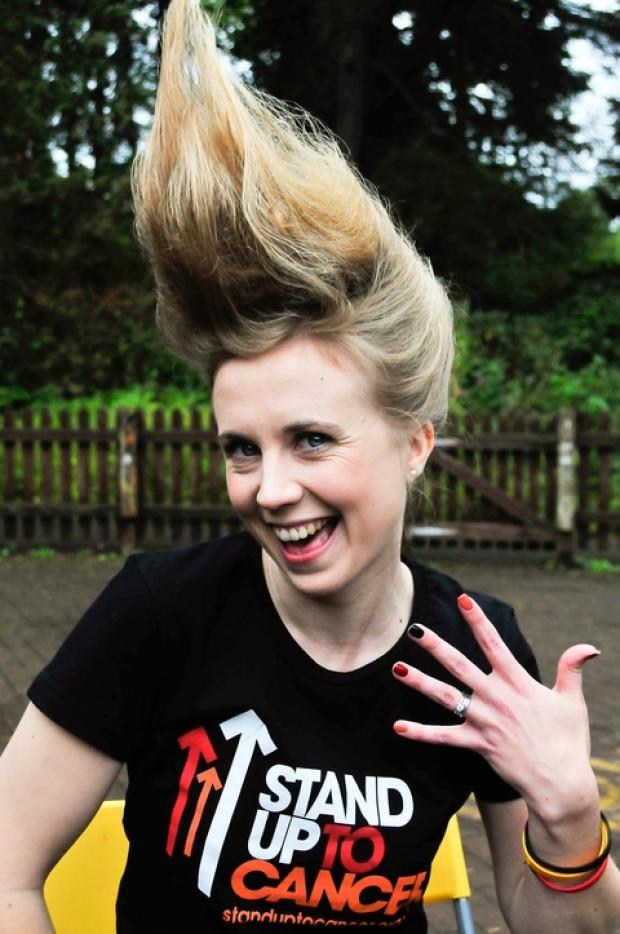 Hair-raising: Victoria Roberts, who will be raising money for research into cancer.