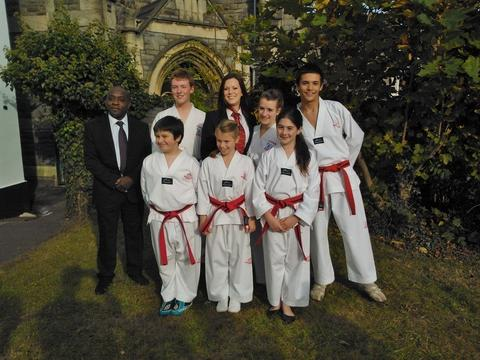 Making the grade: Bewdley TAGB senior instructor Vince Farquharson with new black belts Alex Basset, Katie Billingham, Pippa Lock, Joshua Sheppard, (front) Shaun Mayall, Grace Bentley-Hughes, and Georgia Doohan-Smith.