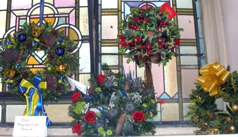 Advent exhibition: Wreaths at St Anne's Church.