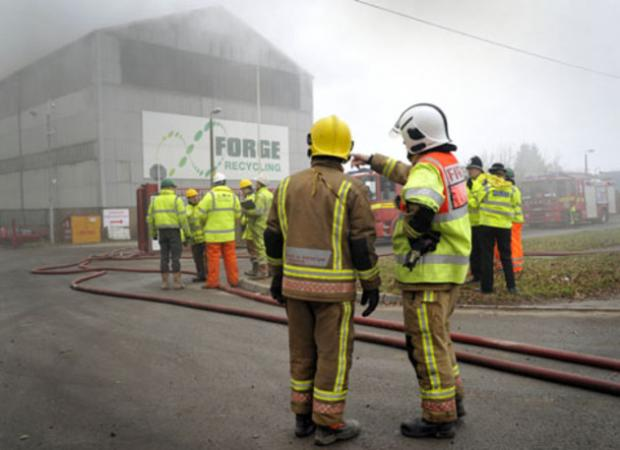 Recycling centre fire - more photos