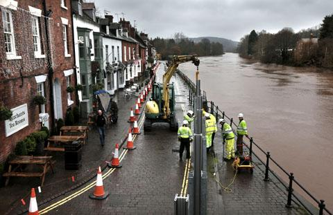 Generator used to pump water from flood-hit Bewdley stolen