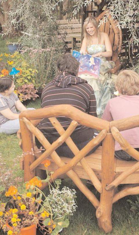 Starting again: The courtyard garden's reading corner was making progress in September, 2012 but has now suffe