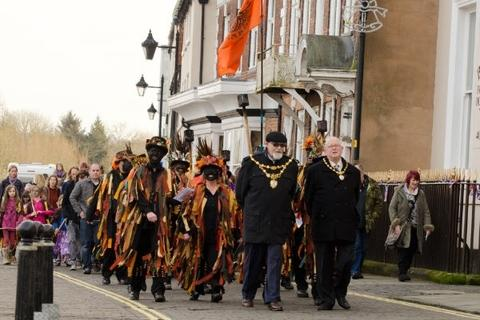'Great spectacle': The parade led by Bewdley Mayor John Latham